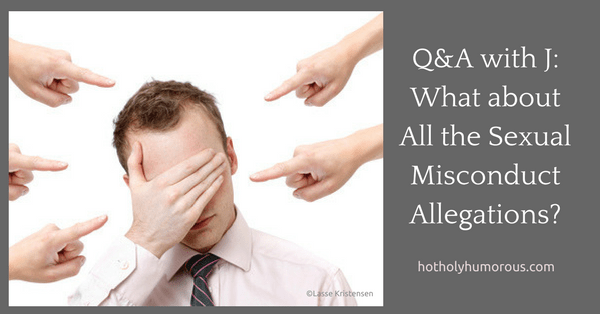Blog post title + man covering face with hand and many fingers pointing at him in accusation