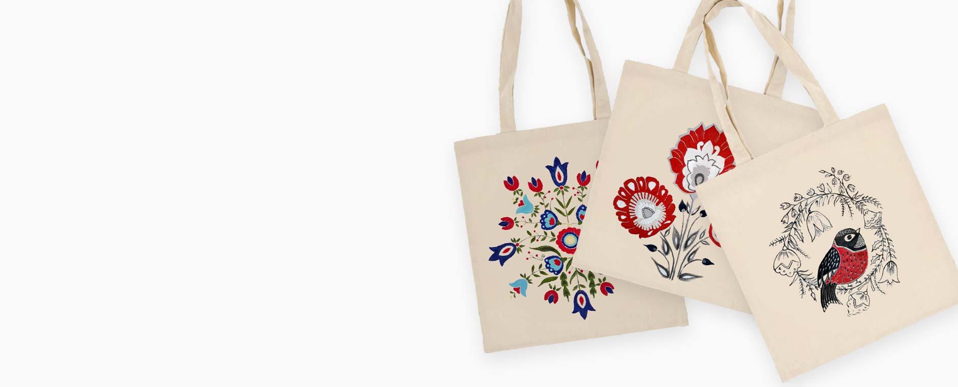eko torba bawełniana ręcznie malowana zero vaste