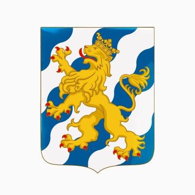 Herb Szwecji ze szkła