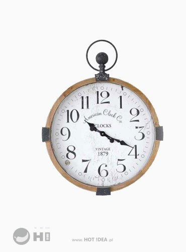 Duży zegar naścienny, loft