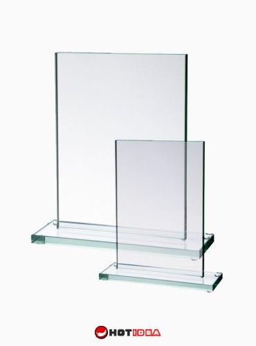 Statuetka szklana - szklana plakieta Simpplix 80031, 80032, tanie statuetki, tania statuetka