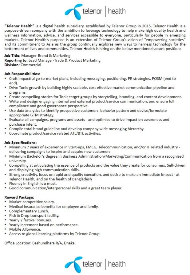 Grameenphone Job Circular 2019 - grameenphone.com