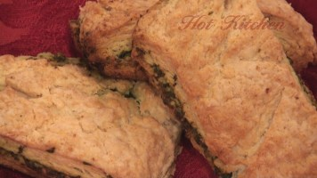 Hot Kitchen Pesto Biscuits Recipe Demonstration