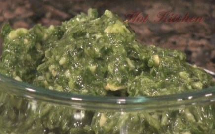 Hot Kitchen Pesto Recipe Demonstration