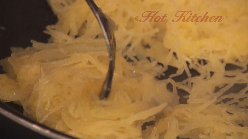 Hot Kitchen Spaghetti Squash with Herbed Chevre Recipe Demonstration