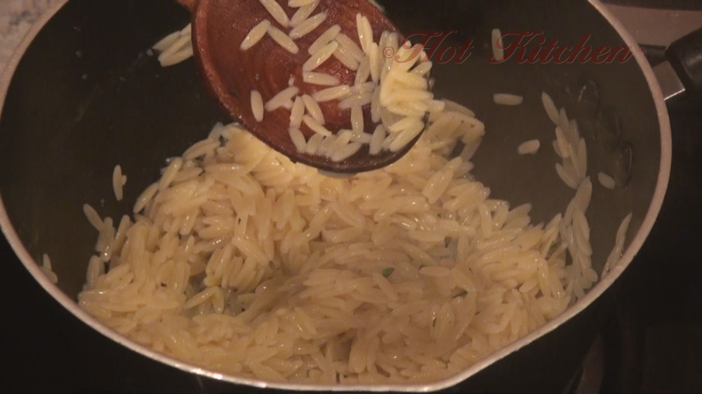 Hot Kitchen Greeked Orzo Recipe Demonstration