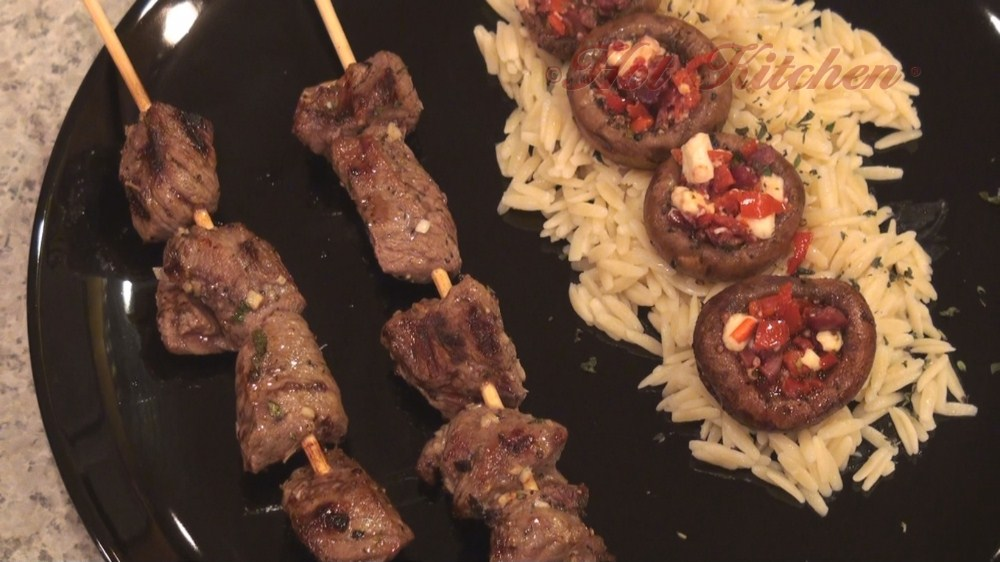 Hot Kitchen Greek Lamb Kebabs Recipe Demonstration