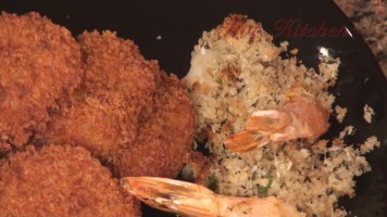 Hot Kitchen Artisan Admirals Platter, Stuffed Shrimp Recipe Demonstration