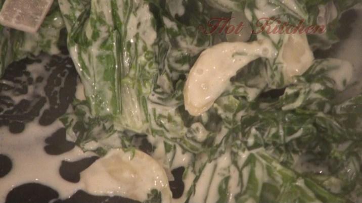 Hot Kitchen Creamed Mustard Greens Recipe Demonstration