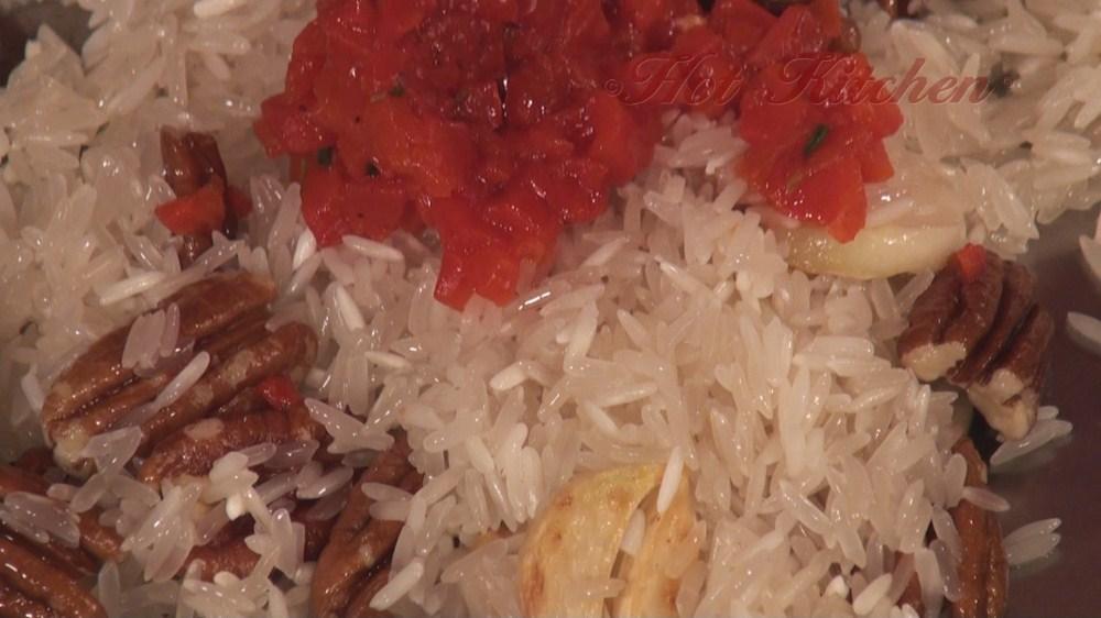 Hot Kitchen Pecan Rice Pilaf Recipe Demonstration
