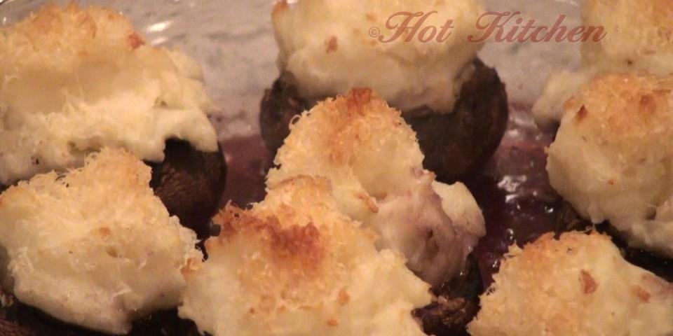 Hot Kitchen Potato Stuffed Mushrooms Recipe Demonstration