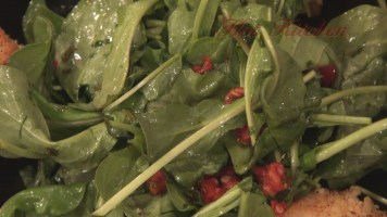 Hot Kitchen Arugula Salad with Infused Vinegar Dressing Recipe Demonstration