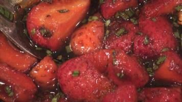 Hot Kitchen - Strawberry Ceviche Salad - Bleu Cheese Dressing- Recipe Demonstration