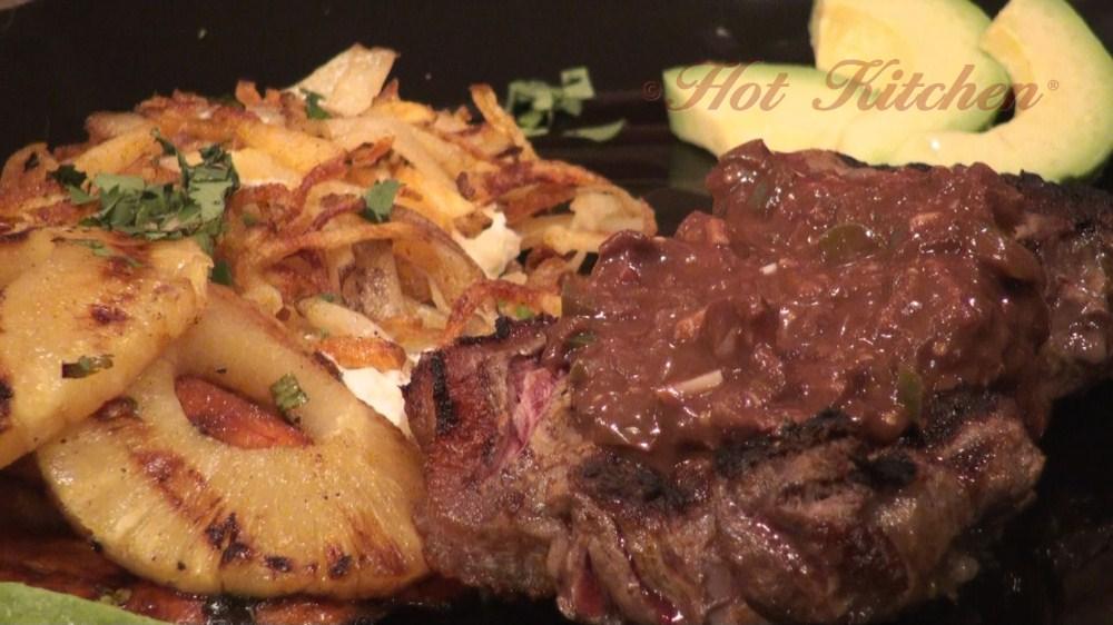 steak mole recipes, tex-mex recipes - hot kitchen recipe demonstration