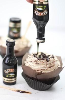 Bottoms Up Irish Cream Hot Fudge Cupcakes 4 2