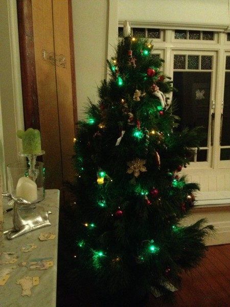 The Christmas Tree is finally up and decorated
