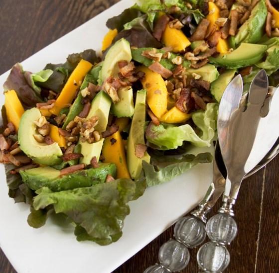 Avocado, Mango and Walnut Salad