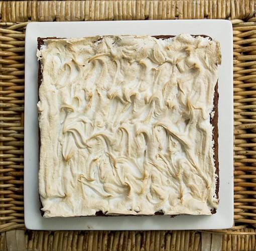 Gluten-Free Nutella and Meringue Slice