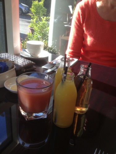 Starting the day with a few juices