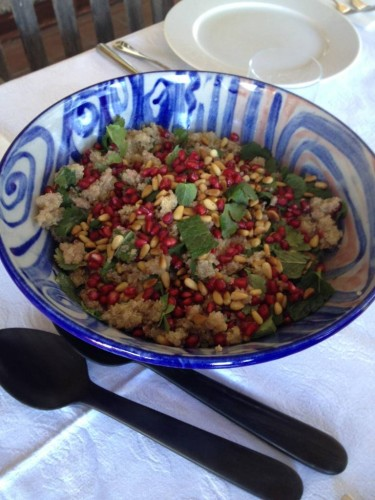 Quinoa, Pomegranate and Mint Salad