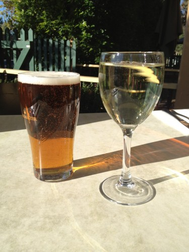 A pre-lunch drink out in the sunshine
