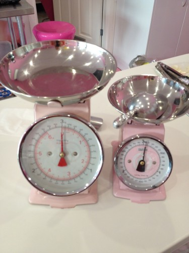 Gorgeous scales to weigh out the sweets