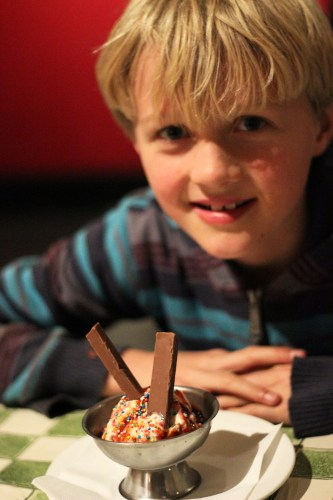 Alfie's ice cream with a his own kit kat added in.