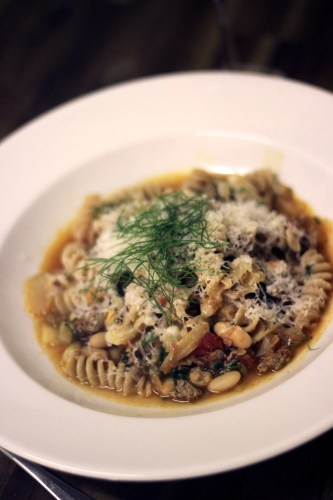 Pasta with sausage, fennel and