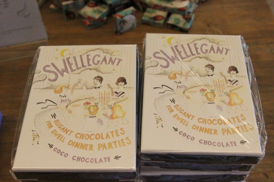 'Swellegant' chocolate boxes for dinner parties