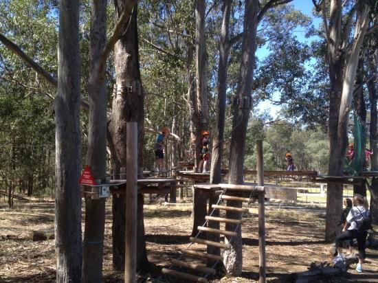 The children's climbing course
