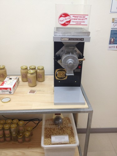 The peanut butter machine