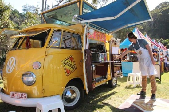 Now at Clifton Gardens, the unique yellow Combi of Jafe Jaffles