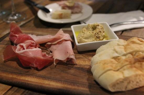 Double smoked ham, prosciutto, hummus and dukkah $16