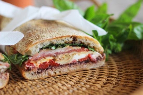 It's a very pretty sandwich