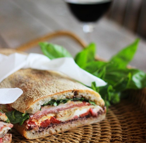 Ciabatta pressed brick sandwich