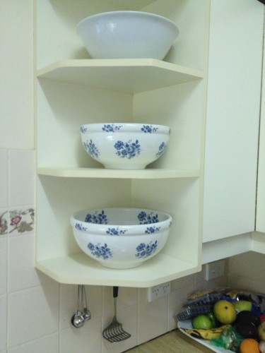 My cornflower blue bowls that I've had for nearly 30 years and every year I've used them to make my Christmas cakes.