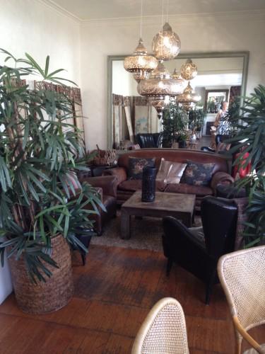 A cosy lounge area near the bar