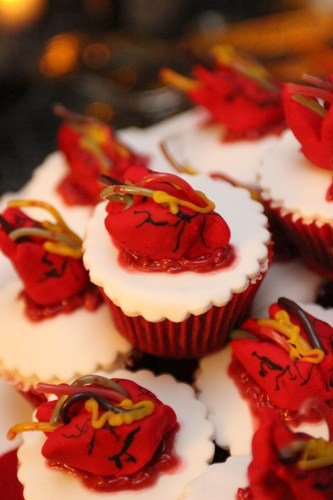 Beating heart cupcakes