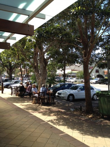 It's lovely to be able to sit under the shade of the gum trees