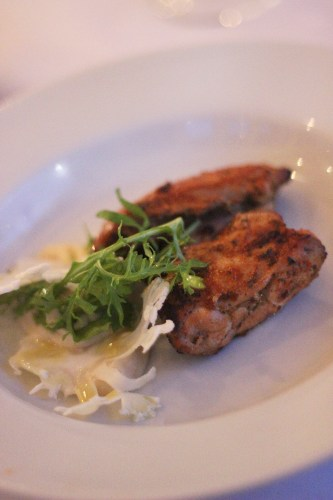 Marinated Chicken Thighs with Cauliflower Puree