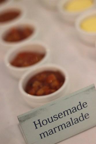 Pots of house-made marmalade