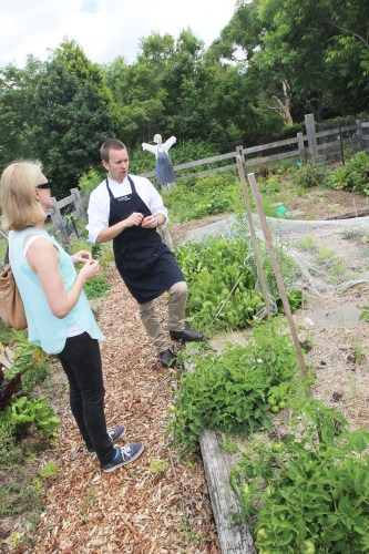 Touring with head chef, Cameron Cansdell