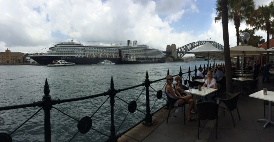 View of the ship from Circular Quay