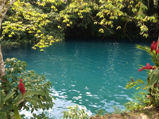 The largest of Vanuatu's blue holes (this is just a part of it)