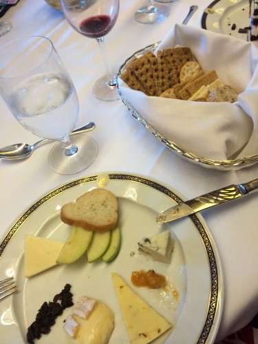Dessert:  Artisan Cheese Plate - loved this.