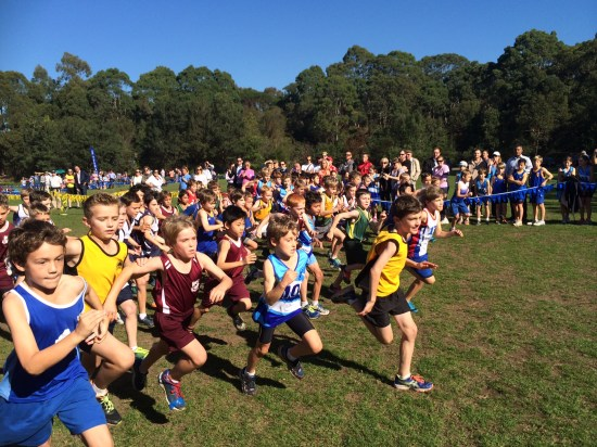The start of the race and my little guy is at the very back