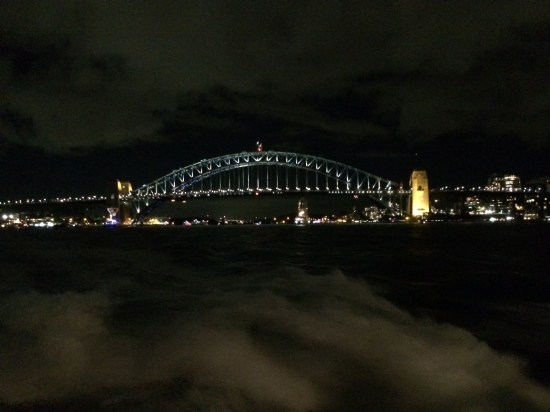 Farewelling Vivid from the ferry