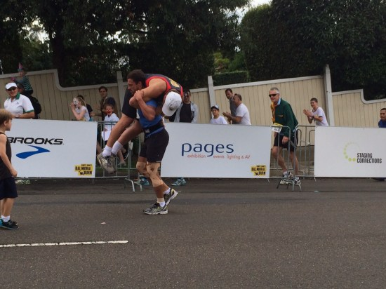 Staggering to the finish line