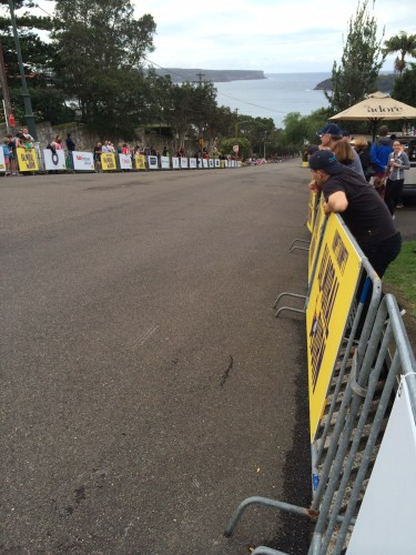 The course - it's steeper than it looks