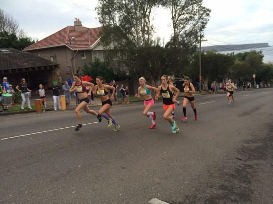 Elite female runners